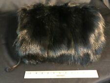 Lush Vintage Dark Fur Muff Hand Warmer