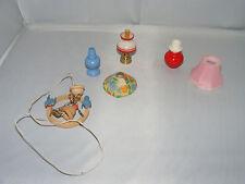 4 x Nostalgie Lampe für Bastler-Bodo Hennig-Puppenhaus-Puppenstube-ca 1:12