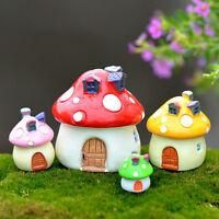 Mushroom House Miniature Garden Ornament DIY Craft Pot Fairy Dollhouse Decor Hot