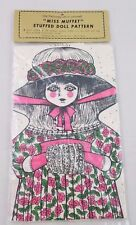 Vintage Miss Muffet Cloth Doll Vintage Sewing Pattern Shackman Cut & Sew Antique
