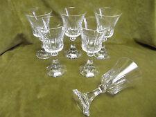 6 verres à eau cristal de Val Saint Lambert Belgique (crystal water glasses)