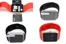 LED Touch Screen Bluetooth Smart Phone Watch Android Samsung T-Mobile Black