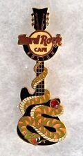 HARD ROCK CAFE BOSTON SNAKE GUITAR SERIES GREEN ORANGE SNAKE W/ GEM PIN # 70148