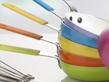 Coloured One Egg Frying Pan with Egg Design Spatula 14cm