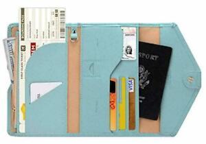Zoppen Multi-purpose Rfid Blocking Travel Passport Wallet (Ver.4) Tri-fold Docum
