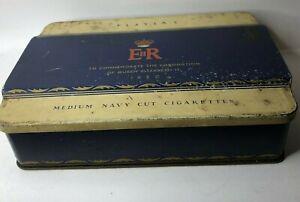1953 Queen Elizabeth II Coronation Player's Cigarette tin 16 x 11 x 4 cm's
