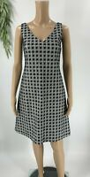 Piazza Sempione Womens V-neck Sheath Dress Textured Size 38 2 Black Sleeveless