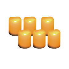 Set of 6 White Flameless LED Votive Candles with Timer, 400 Hours Battery Life