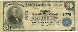 North Carolina Shelby $20 Dollars First National Bank National Currency 1902