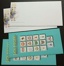 2007 Malaysia National & State Emblems Blank FDC (Lot of 2 covers)