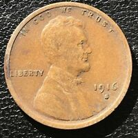 1916 S Wheat Penny Lincoln Cent 1c Higher Grade #14356