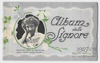 1927-28 ALBUM DELLE SIGNORE PACELLI LIVORNO ricamo punto croce pubblicità