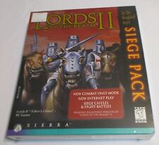 SIERRA Lords of the Realm 2 Siege Pack Vintage Windows 95 CD ROM NEW Sealed Box