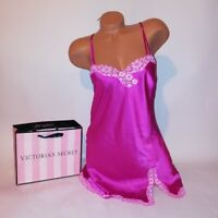 Victoria Secret Lingerie Chemise Slip Babydoll Small Pink Floral Satin