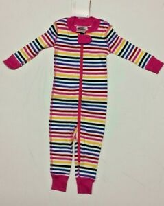 Hanna Andersson baby girl coverall sleepsuit 0 3  6 9 12 18 24 m pink stripe