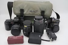 Minolta Maxxum 7000 And 7xi Camera 35mm Lot With Lenses Sigma Tamron Tote Bag