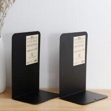 2 Pieces/1 Pair Metal Bookends Non-Slip Heavy Metal Bookshelf For Shelves Book U