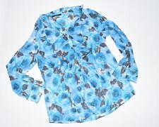 Geblümte Lockre Sitzende Damenblusen,-Tops & -Shirts im Blusen-Stil mit Baumwollmischung