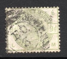 QV 1883 sg 195wi   9d dull green wmk sideways inverted ( L M ) Vat £750-