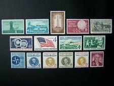 US STAMPS 1959 YEAR COMPLETE SET, SCOTT # 1124-1138. OG., MNH.
