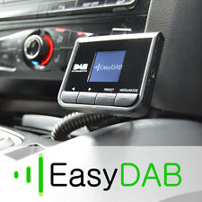 Plug - & - play/go coche Dab radio Digital Adaptador Con Transmisor Fm + Aux In/out