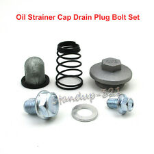 Oil Strainer Cap Drain Plug Bolt Set For 50cc 125cc 150cc GY6 ATV Moped Scooter