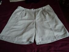 Mens ~ Haggar  Shorts ~ Polyester ~ Pleated Front Dressy  ~ SZ 42 ~ Beige ~ AS
