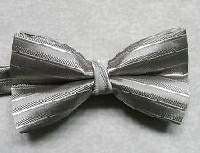 """NUOVO Lusso Papillon Da Uomo Papillon Scintillante design a righe marrone chiaro 14"""" - 21.5"""""""