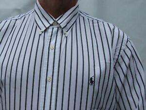 RALPH LAUREN POLO  cotton BUTTON DOWN LONG sleeve shirt Size 18 36/37