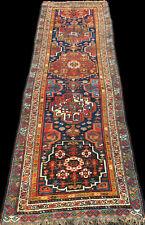 antique tapis persan kurde Quchan Veramin Persian Kurdish tribal rug 320x105