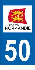 Département 50 MOTO 1 autocollant style plaque moto 3 x 6 cm REGION NORMANDIE