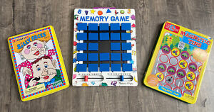 Kids Travel Game Lot Melissa & Doug Memory Magnetic Tins Silly Faces Traffic Jam