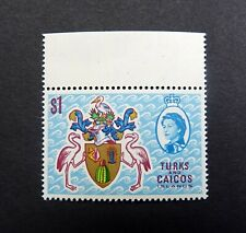 TURKS & CAICOS ISLANDS QEII 1971 SG345Ei $1 WMK INVERTED, Mint UMM/MNH.