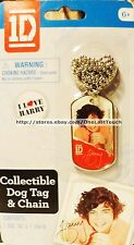 ONE DIRECTION Collectible Dog Tag I LOVE HARRY Ball Chain Necklace 1D (carded)