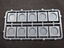 Mantic Games quadrate da 20mm GRIGIO le basi del modello con depressione circolari (10)