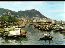 HONG-KONG / BATEAUX BOAT PEOPLE in CAUSEWAY BAY TYPHOON SHELTER