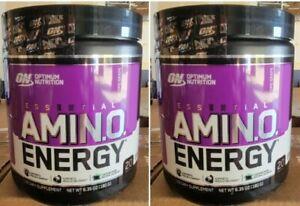 Optimum Nutrition ON Amino Energy Concord Grape 20 Serv (2 Pack) Brand New