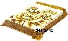 Solaron Korean Blanket throw Thick Mink Plush King size Roses Licensed new