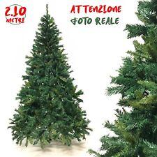 Albero di Natale 210 cm Folto Realistico 1792 Rami Pino Verde Naturale