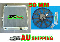 50MM GPI aluminum radiator For Toyota Surf Hilux 2.4/2.0 LN130  AT/MT +  fan