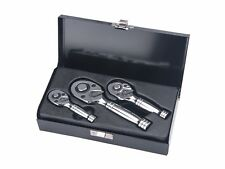 Stubby Ratchet 3 Piece Set 1/2 Drive 3/8 Drive 1/4 Drive  Quality Tools 72 Tooth