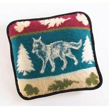 """Deluxe Fox Throw Pillow Hautman Brothers new Reversible 18"""" Sq~washable Plush"""