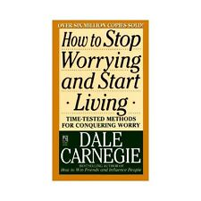 How to Stop Worrying and Start Living by Dale Carnegie paperback book