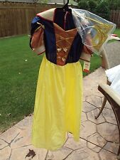 Halloween Costume Snow White With Mask And Crown Child's Size Medium