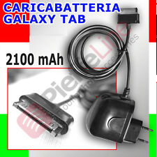 Caricabatteria DA CASA per SAMSUNG GALAXY TAB II P3100 3110 P5100 5110 2,1AMPER