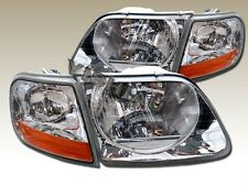 97-03 FORD F150 SVT 1997-2002 EXPEDITION HEADLIGHTS+CLEAR CORNER LIGHTS