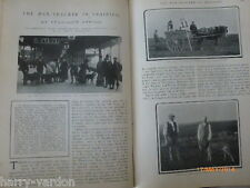 Mantracker Bloodhound Man Hunting Dog Coaching Christmas Horse Old Article 1904