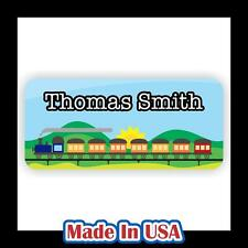 42 Personalized Waterproof Train Name Labels Stickers Tag Kids School Shoes Hat