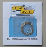 BRAIDED LINE #2 1:24 1:25 DETAIL MASTER CAR MODEL ACCESSORY 1302 .025 Diameter