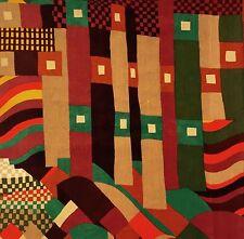 Vtg Liberty Fabric Bauhaus retro 1960s 1970s Modernist DIY art wall hanging #71